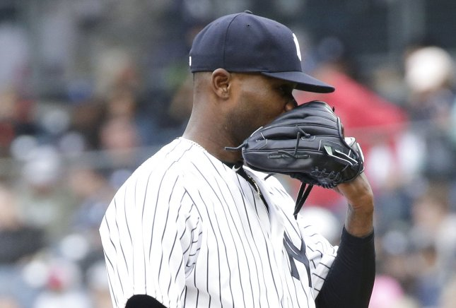 Domingo German and the New York Yankees square off with the Tampa Bay Rays on Sunday. Photo by John Angelillo/UPI