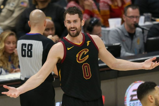 Kevin Love and the Cleveland Cavaliers take on the Minnesota Timberwolves on Friday. Photo by Aaron Josefczyk/UPI