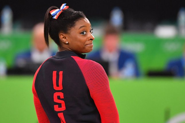 Team USA gymnast Simone Biles won four gold medals during the 2016 Summer Olympics in Rio de Janeiro, Brazil. File Photo by Kevin Dietsch/UPI