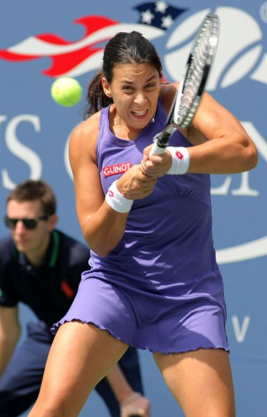 Marion Bartoli, shown at last year's U.S. Open, dropped a first-round match Tuesday at the Portgual Open. Bartoli was the No. 1 seed in the tournament. UPI Photo/Monika Graff