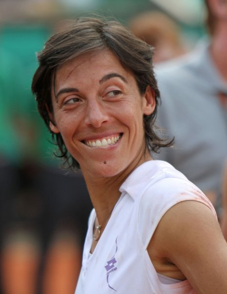 Francesca Schiavone, shown after winning the French Open in June, was defeated Thursday at the Istanbul Cup, where she was the No. 1 see. She is 1-3 since the French Open final. UPI/David Silpa