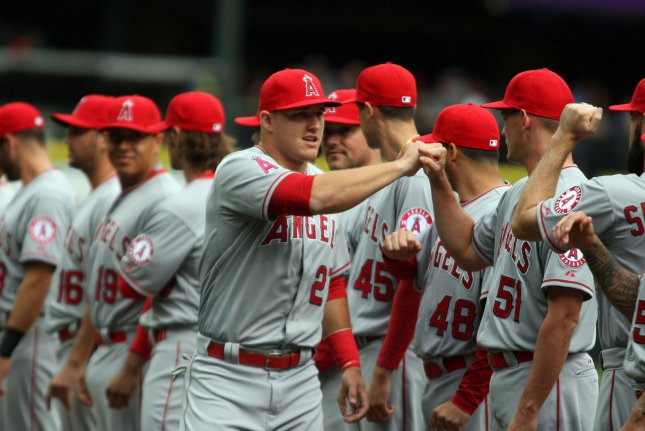 Los Angeles Angels outfielder Mike Trout. Photo by Jim Bryant/UPI