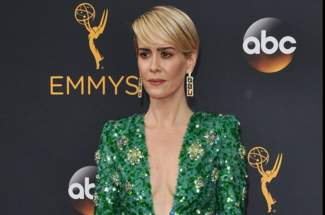 Actress Sarah Paulson arrives for the 68th annual Primetime Emmy Awards at Microsoft Theater in Los Angeles on September 18, 2016. Photo by Christine Chew/UPI
