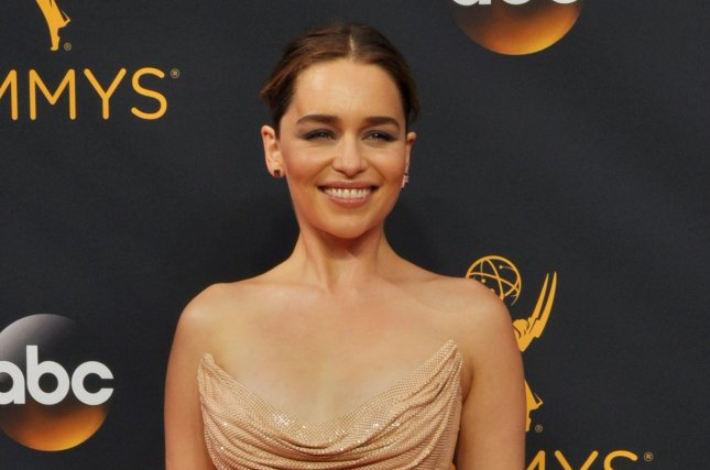 Emilia Clarke attends the Primetime Emmy Awards on September 18, 2016. The actress plays Verena in Voice from the Stone. File Photo by Christine Chew/UPI