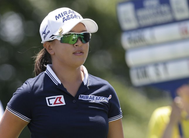 Sei Young Kim remains in front at the Women's PGA Championship. Photo by John Angelillo/UPI