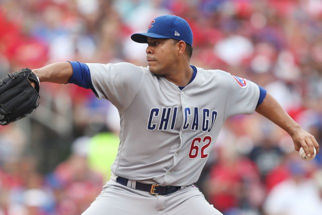 Jose Quintana and the Chicago Cubs take on the Chicago White Sox. Photo by Bill Greenblatt/UPI