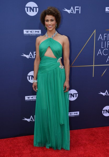 Paula Patton arrives for American Film Institute's 47th annual Life Achievement Award tribute gala to actor Denzel Washington at the Dolby Theatre in the Hollywood section of Los Angeles on June 6. The actor turns 44 on December 5. File Photo by Jim Ruymen/UPI