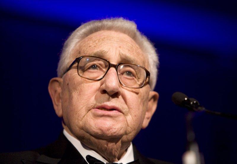 Henry Kissinger in Washington on April 21, 2008. (UPI Photo/Patrick D. McDermott/Files)