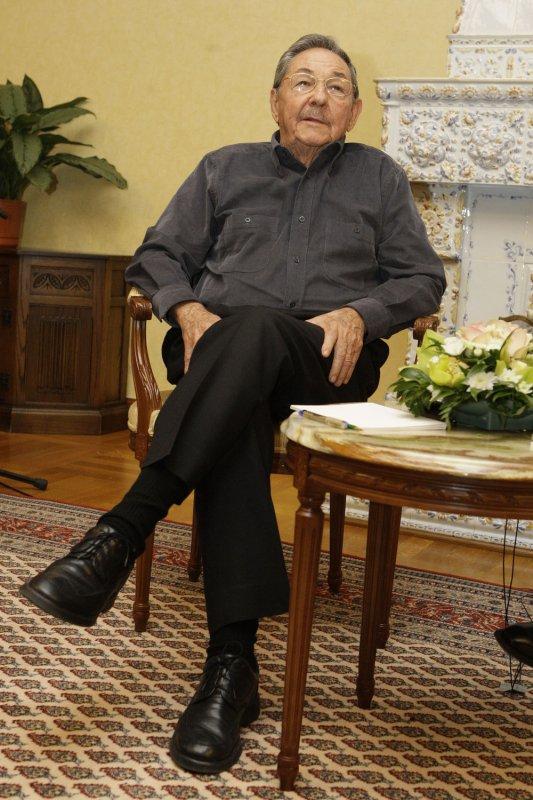 Cuban leader Raul Castro. (UPI Photo/Anatoli Zhdanov)