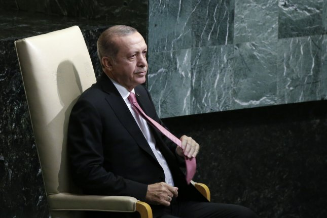 The government of Turkish President Recep Tayyip Erdogan met with counterparts from Iran at the United Nations General Assembly this week, promising to enact coordinated sanctions against Kurdish territories in Iraq if the provincial government goes forward with a controversial independence referendum. Photo by John Angelillo/UPI