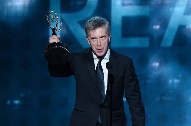 TV personality Tom Bergeron receives the Emmy Award for Outstanding Reality Host Emmy For Dancing With The Stars at the 64th Primetime Emmys in 2012. Bergeron, who has hosted the show since 2005, won't be returning for Season 29. File Photo by Jim Ruymen/UPI