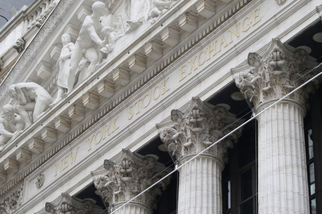 The New York Stock Exchange is seen Wednesday on Wall Street in New York City. Photo by John Angelillo/UPI