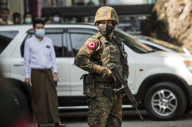 About 80 Myanmar Air Force officers have defected in protest since the military coup Feb. 1, according to a recent press report. File Photo by Xiao Long/UPI
