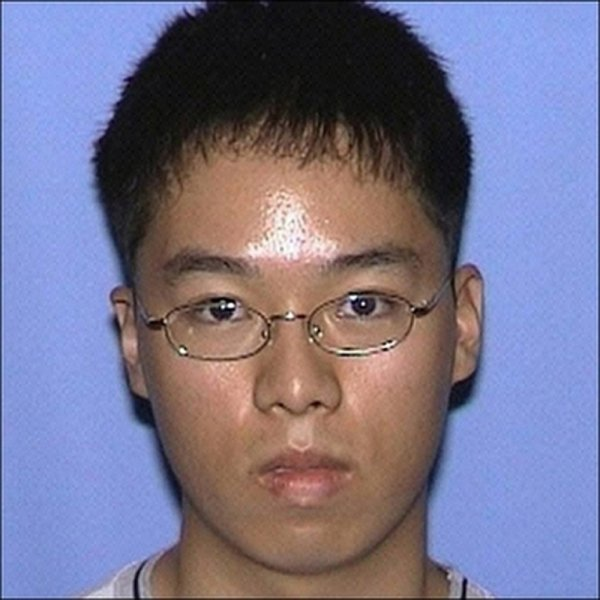 Cho Seung-hui, in a photo released by the Virginia State Police, killed 32 students on the Virgina Tech campus on April 16, 2007, before killing himself. (UPI Photo/HO/Virginia State Police)