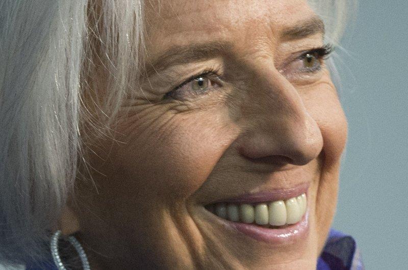 Christine Lagarde, Managing Director or the International Monetary Fund. UPI/Kevin Dietsch