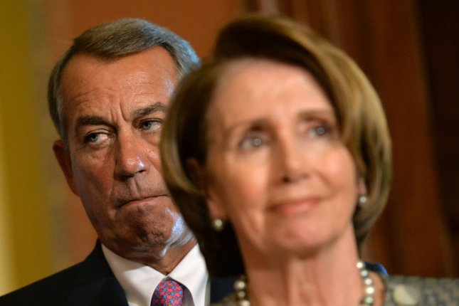 Speaker of the House John Boehner (R-OH) and House Minority Leader Nancy Pelosi (D-CA). UPI/Kevin Dietsch