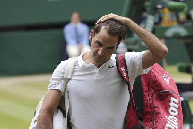 Swiss Roger Federer. Photo by Hugo Philpott/UPI