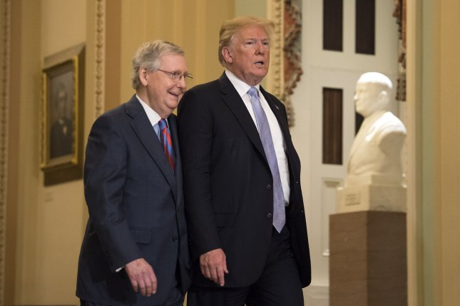 Senate Republican leader Mitch McConnell of Kentucky said he hopes any deal with North Korea would take the form of a treaty so that it would come before Congress for a vote. Photo by Kevin Dietsch/UPI