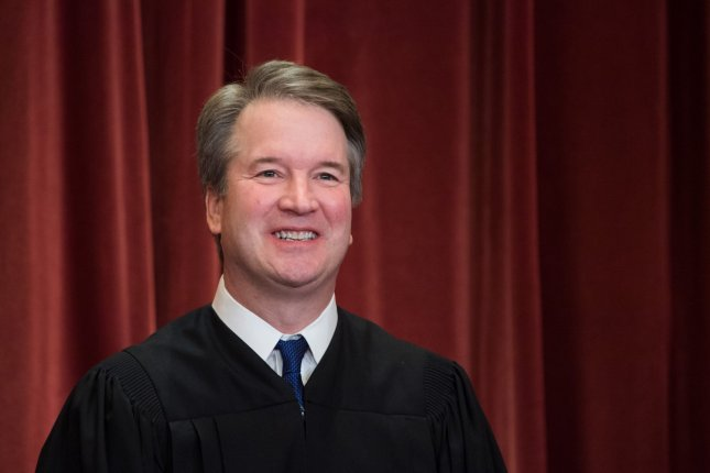 Supreme Court Justice Brett Kavanaugh said he voted in favor of staying a Texas execution because the state's policy on chaplains in the execution chamber was unconstitutional. File Photo by Kevin Dietsch/UPI