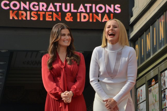 Actresses Kristen Bell and Idina Menzel received the 2,681st and 2, 682starstar on the Hollywood Walk of Fame on Tuesday. Photo by Jim Ruymen/UPI