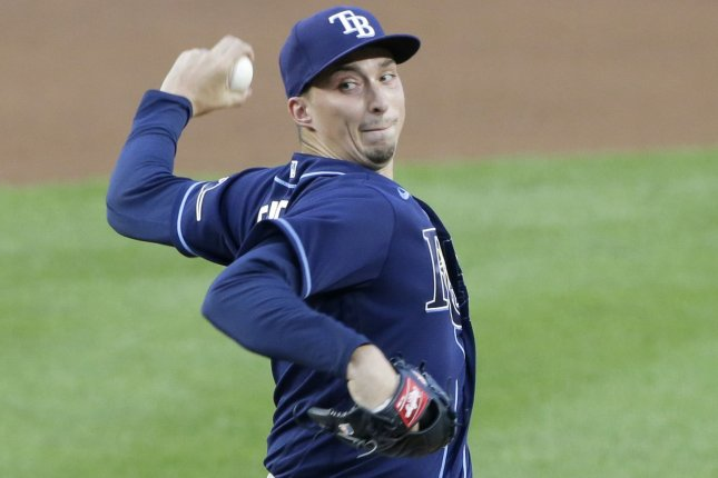 Ace pitcher Blake Snell is headed to the San Diego Padres via trade after he helped the Tampa Bay Rays reach the World Series last season. File Photo by John Angelillo/UPI