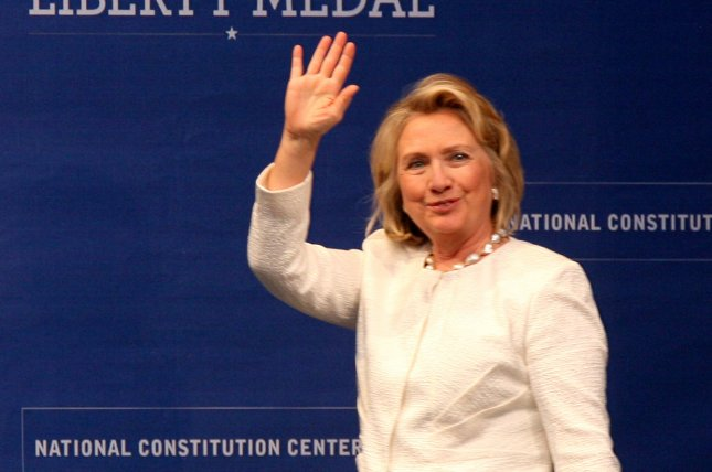 Former Secretary of State and first lady Hillary Rodham Clinton. UPI/John Anderson