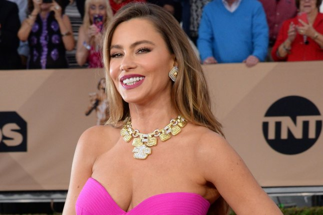 Sofia Vergara attending the 22nd annual Screen Actors Guild Awards on January 30, 2016. Vergara has been named the highest paid TV actress for the fifth year in a row by Forbes. Kaley Cuoco came in second. File Photo by Jim Ruymen/UPI