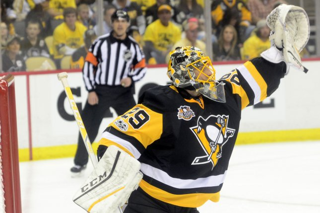 Marc-Andre Fleury backstops Pittsburgh Penguins to Game 1 ...