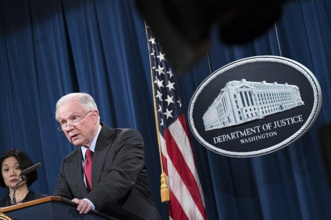 U.S. Attorney General Jeff Sessions and the Justice Department will head-up a new presidential task force to investigate a range of fraud targeting various groups and Americans, officials said Wednesday. File Photo by Kevin Dietsch/UPI