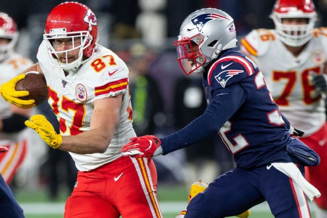 Kansas City Chiefs tight end Travis Kelce (87) has scored in back-to-back games and is my No. 1 tight end for Week 3. File Photo by Matthew Healey/UPI
