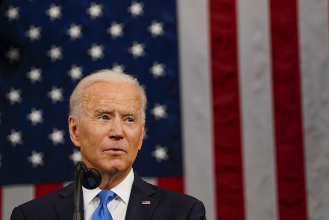 The S&P 500 hit a record high on Thursday as markets rose following President Joe Biden's first address before Congress on Wednesday night in advance of his 100th day in office. File Pool photo by Melina Mara/UPI