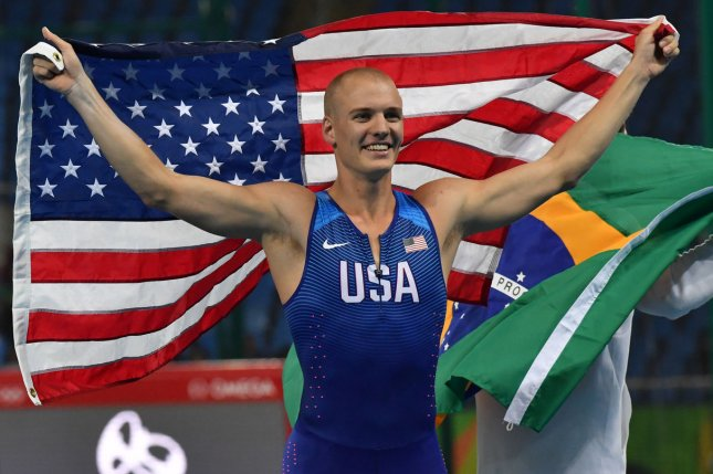 Team USA pole vaulter Sam Kendricks is in isolation in his hotel in Tokyo after he tested positive for COVID-19. File Photo by Richard Ellis/UPI