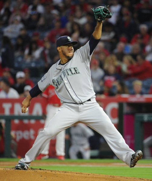 Yovani Gallardo and the Seattle Mariners shut down the New York Mets on Saturday. Photo by Lori Shepler/UPI