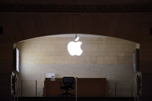 The Apple Store at Grand Central Terminal in New York City is seen closed on March 29 due to the coronavirus pandemic. Multiple locations will close temporarily due to dangers posed by ongoing demonstrations opposing the death of George Floyd. File Photo by John Angelillo/UPI
