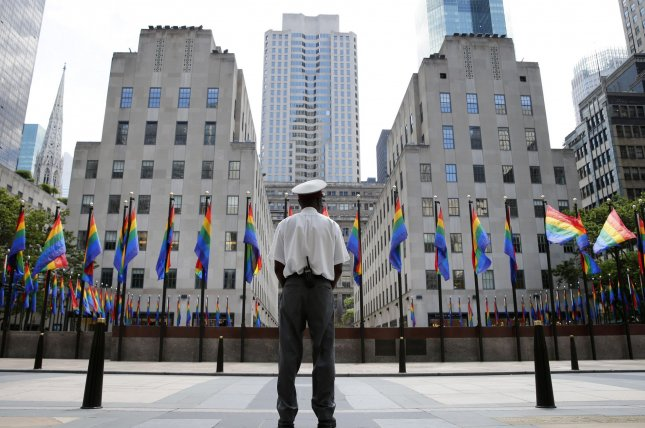 NYC Pride announced Saturday that corrections and law enforcement personnel will be banned from its events and it will reduce New York Police Department presence until 2025.File Photo by John Angelillo/UPI