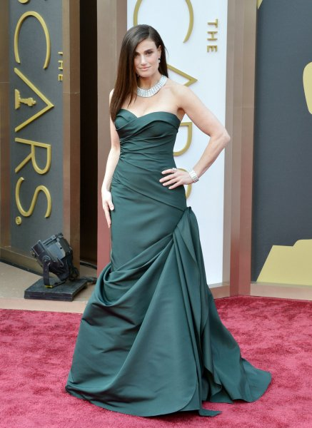 Idina Menzel arrives on the red carpet at the 86th Academy Awards at Hollywood & Highland Center in the Hollywood section of Los Angeles on March 2, 2014. UPI/Kevin Dietsch