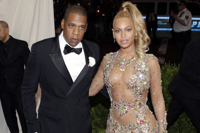 Jay Z and Beyonce arrive on the red carpet at the Costume Institute Benefit at The Metropolitan Museum of Art in New York City on May 4, 2015. Jay Z is hosting an event in New York Wednesday intended to spotlight the imprisonment and suicide of Kalief Browder. File Photo by John Angelillo/UPI