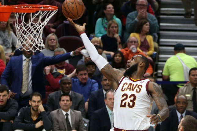 Cleveland Cavaliers' LeBron James likes the spend the off-season in Los Angeles, where he just purchased a second mansion. Photo by Aaron Josefczyk/UPI