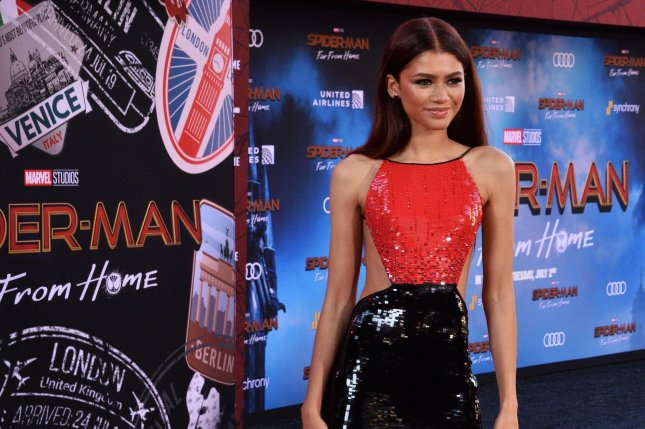 Zendaya attends the Los Angeles premiere of Spider-Man: Far From Home on Wednesday. Photo by Jim Ruymen/UPI