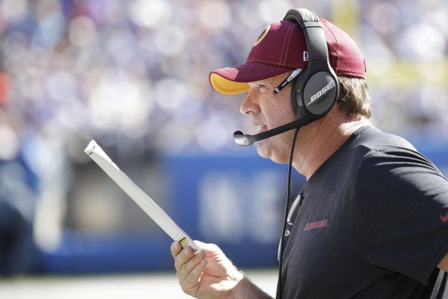 The Washington Redskins fired former head coach Jay Gruden in October after he posted a 35-49-1 record with the NFC East franchise. File Photo by John Angelillo/UPI