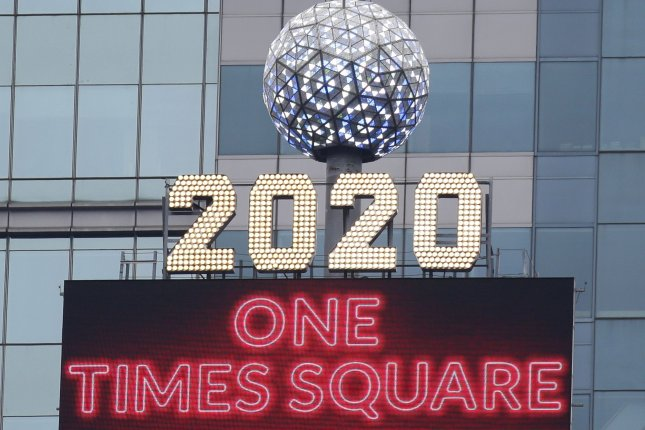 The iconic New Years Eve ball is seen on the rooftop of One Times Square in New York City on October 21. File Photo by John Angelillo/UPI