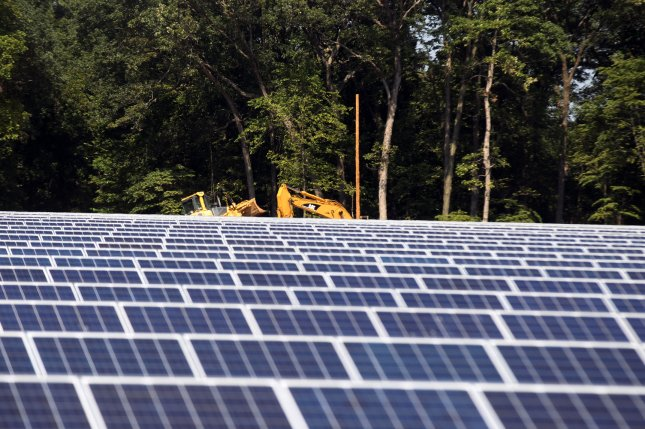 Renewable energy group in North Carolina says state solar power capacity passed 1 gigawatt threshold. File photo by Bill Greenblatt/UPI