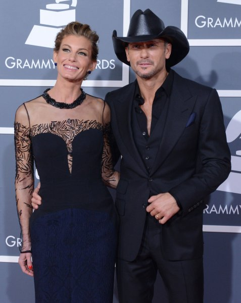 Singers Faith Hill and Tim McGraw arrive at the 55th annual Grammy Awards at Staples Center in Los Angeles on February 10, 2013. UPI/Jim Ruymen