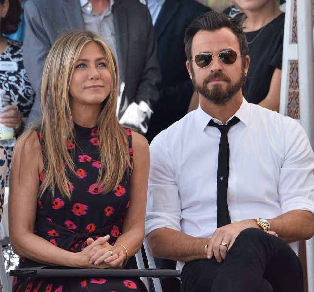 Actress Jennifer Aniston and her estranged husband, actor Justin Theroux, spent Thanksgiving eve together this week. File Photo by Jim Ruymen/UPI
