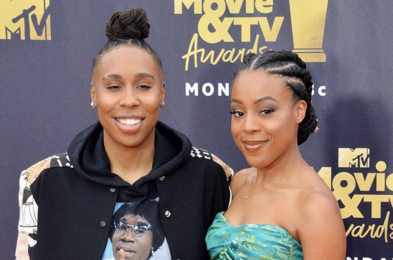 Lena Waithe (L) and Alana Mayo attend the MTV Movie & TV Awards on June 2018. Mayo filed for divorce on Sunday. File Photo by Jim Ruymen/UPI