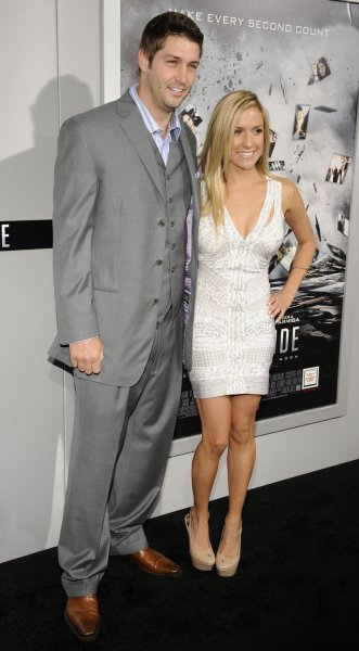 Jay Cutler and Kristin Cavallari attend the premiere of the film Source Code in Los Angeles, Calif. in 2011. The couple welcomed their third child, a girl, this week. File Photo by Phil McCarten/UPI