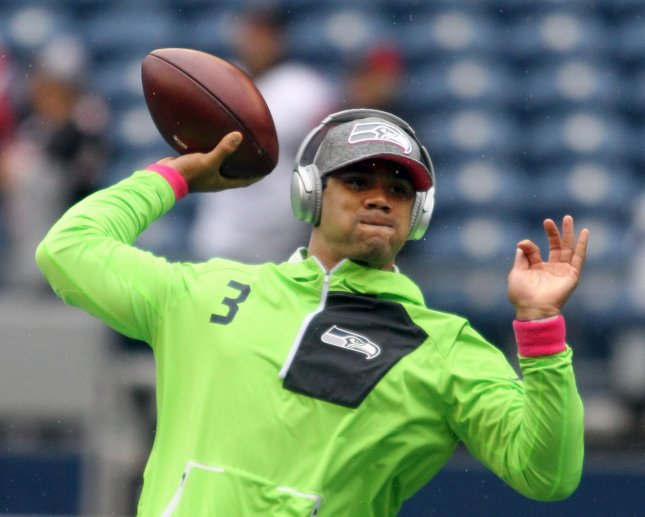 Seattle Seahawks QB Russell Wilson will continue to seek big play chances against Philadelphia's secondary; while the Eagles need to keep Wilson in the pocket and not let him get outside and extend plays. Photo by Jim Bryant/UPI