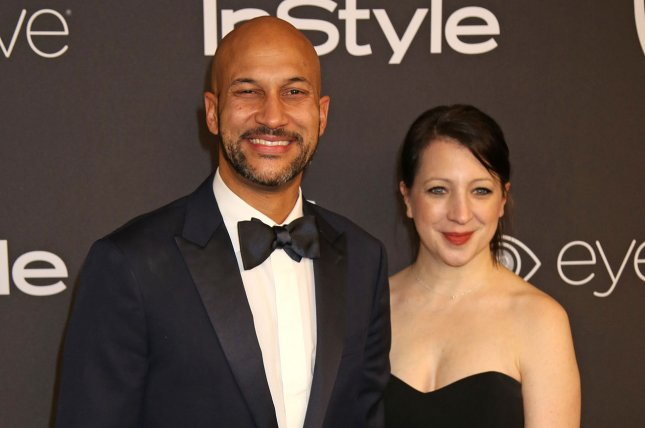 Keegan-Michael Key (L) and Elisa Pugliese attend the 18th annual InStyle and Warner Bros. Golden Globe after-party in Beverly Hills on January 8. Key's Netflix series Friends from College has been picked up for a second season. File Photo by David Silpa/UPI