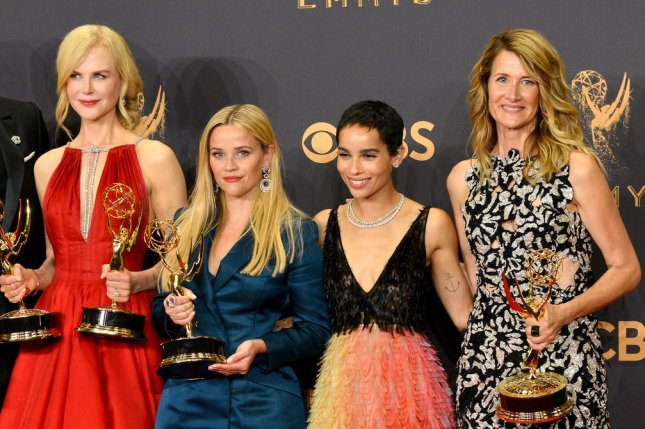Nicole Kidman, Reese Witherspoon, Zoe Kravitz and Laura Dern (L-R) played Celeste Wright, Madeline Mackenzie, Bonnie Carlson and Renata Klein in Big Little Lies Season 1. File Photo by Christine Chew/UPI