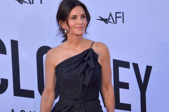 Courteney Cox shared an Instagram video of her recreating The Routine from Friends with Ed Sheeran. File Photo by Jim Ruymen/UPI